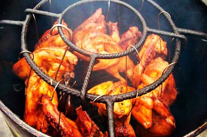 pollo a la brasa al cilindro